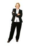 pełny bizneswomanu senior Fotografia Stock