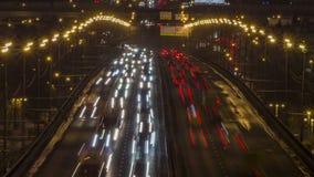 Pełny HD wideo nocy miasta ruch drogowy zbiory