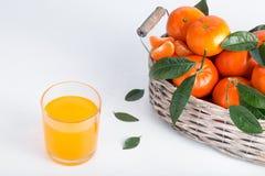 Pe?ny kosz mandarynka z szk?em sok zdjęcie royalty free