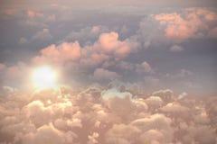 Pełny ramowy wizerunek chmurny niebo Zdjęcie Royalty Free