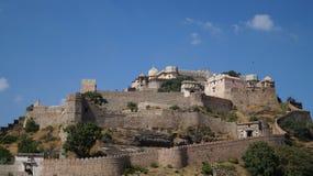 Pełny Viwe, Kumbhalgarh fort - Obraz Royalty Free
