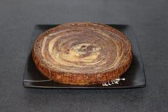 Pełny zebry cheesecake widok od strony Zdjęcie Stock