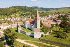 Pe Tarnave de Saros, igreja fortificada, a Transilvânia, Romênia medie fotografia de stock royalty free