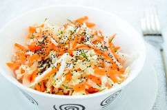 Pe-tsai cabbage salad with carrot, dill and poppy seed Stock Photography