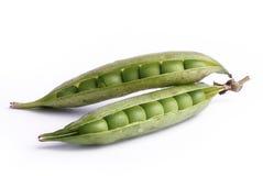 Pea. Couple of fresh peas on isolated background Stock Photo