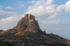 PeA±aa de贝尔纳尔,巨型独石,墨西哥 库存照片