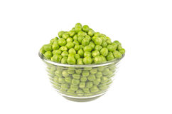 Pea Balls. In glass bowl on white background Stock Image
