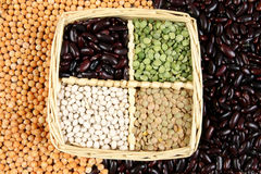 Pea and beans Royalty Free Stock Photography