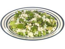 Pea Broad Bean and Asparagus Risotto Stock Image