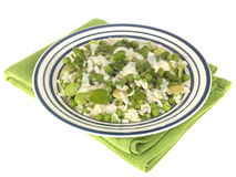 Pea Broad Bean and Asparagus Risotto Stock Photography