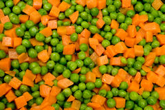 Pea and carrots background Stock Photography