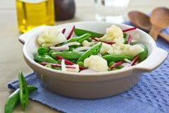 Pea,Cauliflower and Beetroot salad Royalty Free Stock Photo