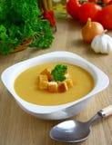 Pea cream soup. Stock Photos