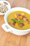 Pea cream soup Royalty Free Stock Photography