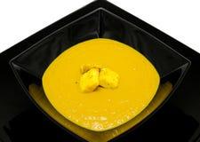 Pea cream soup Stock Photos