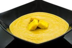 Pea cream soup Stock Image