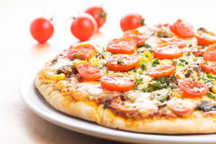 Peça da pizza Imagem de Stock Royalty Free