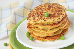 Pea flour fritters with vegetables Royalty Free Stock Photography