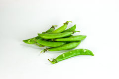 Pea. Fresh pea in white background Royalty Free Stock Images