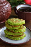 Pea fritters. Stock Image
