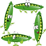 Pea - funny vector cartoon Stock Photo