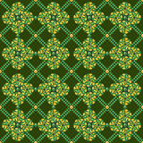 Pea Geometric Seamless Pattern Stock Images