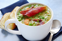 Pea and Ham Soup Stock Photography