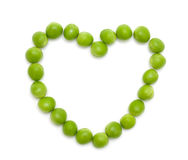 Pea heart Stock Photography