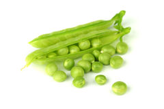 Pea isolated on white Royalty Free Stock Photography