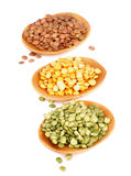 Pea and Lentils Royalty Free Stock Photos