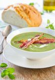 Pea,Mint and Celery soup  Stock Image