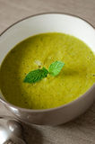 Pea and mint soup Royalty Free Stock Photos