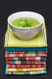 Pea mint soup Royalty Free Stock Images