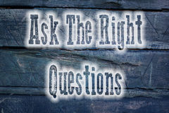 Peça o conceito das perguntas do direito Foto de Stock