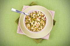Pea and pasta soup. Stock Images