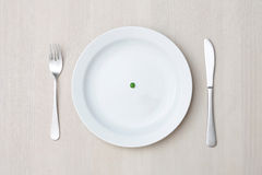 Pea on plate Stock Images