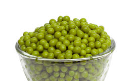 Pea Pod in bowl Stock Images