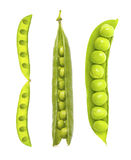 Pea pod isolated on white background Stock Photos