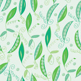 Pea pod seamless pattern Stock Photo