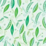 Pea pod seamless pattern Stock Photo