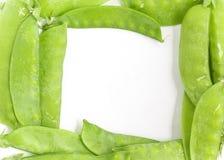 Pea Pod Torta Frame verde foto de stock royalty free