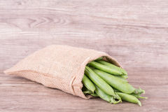 Pea pods in a bag Royalty Free Stock Photography