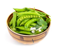 Pea pods isolated Royalty Free Stock Photo