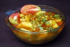 Pea & potato dish Stock Photos