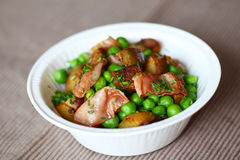 Pea and potato salad Royalty Free Stock Images