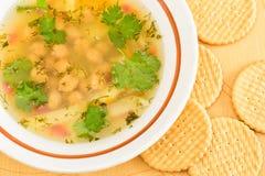 Pea and potato soup Stock Photos
