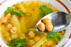 Pea and potato soup Stock Image