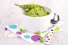 Pea puree Stock Images