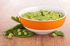 Pea puree Royalty Free Stock Photography