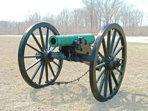 Pea ridge cannon 1. This was taken at the battlefield of Pea ridge. Cival war era. March 7-8, 1862. The people at Royalty Free Stock Photo